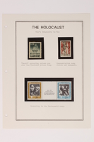 1993.21.1 page 10 front Album that contained a collection of Holocaust related postage stamps  Click to enlarge