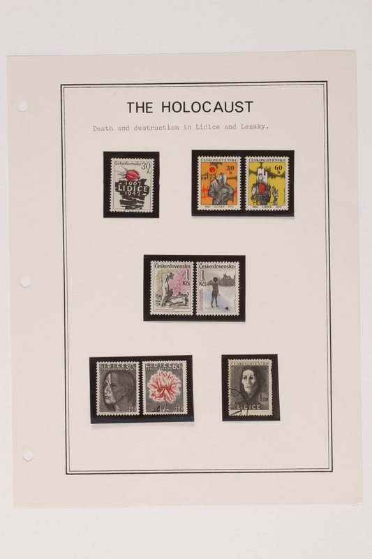 1993.21.1 page 13 front Album that contained a collection of Holocaust related postage stamps