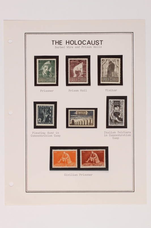 1993.21.1 page 14 front Album that contained a collection of Holocaust related postage stamps