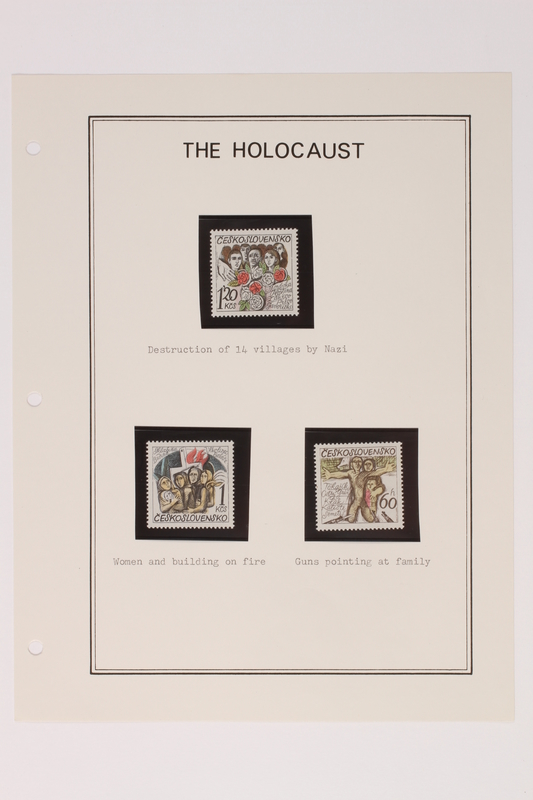 1993.21.1 page 15 front Album that contained a collection of Holocaust related postage stamps