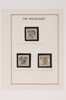 1993.21.1 page 15 front Album that contained a collection of Holocaust related postage stamps  Click to enlarge