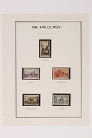 1993.21.1 page 16 front Album that contained a collection of Holocaust related postage stamps  Click to enlarge
