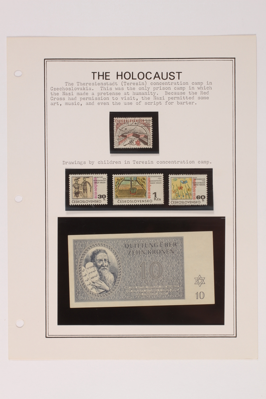 1993.21.1 page 17 front Album that contained a collection of Holocaust related postage stamps