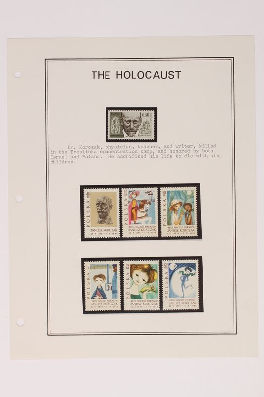 1993.21.1 page 18 front Album that contained a collection of Holocaust related postage stamps