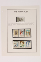 1993.21.1 page 18 front Album that contained a collection of Holocaust related postage stamps  Click to enlarge