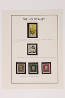 1993.21.1 page 19 front Album that contained a collection of Holocaust related postage stamps  Click to enlarge