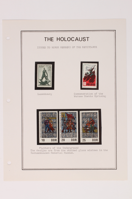 1993.21.1 page 20 front Album that contained a collection of Holocaust related postage stamps