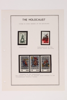1993.21.1 page 20 front Album that contained a collection of Holocaust related postage stamps  Click to enlarge