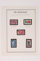 1993.21.1 page 21 front Album that contained a collection of Holocaust related postage stamps  Click to enlarge