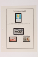 1993.21.1 page 22 front Album that contained a collection of Holocaust related postage stamps  Click to enlarge