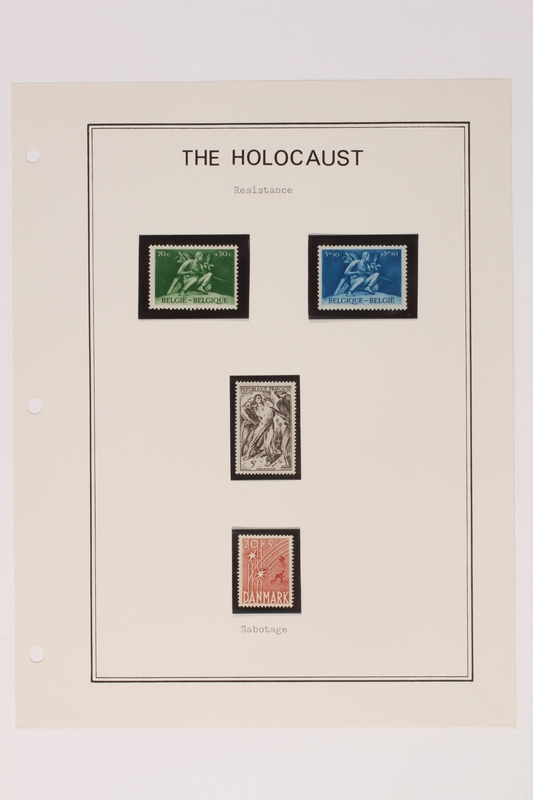 1993.21.1 page 23 front Album that contained a collection of Holocaust related postage stamps