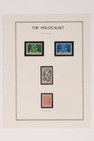 1993.21.1 page 23 front Album that contained a collection of Holocaust related postage stamps  Click to enlarge