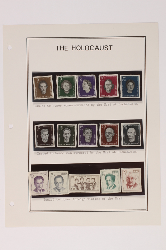 1993.21.1 page 24 front Album that contained a collection of Holocaust related postage stamps
