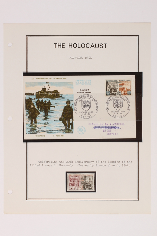 1993.21.1 page 25 front Album that contained a collection of Holocaust related postage stamps