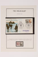 1993.21.1 page 25 front Album that contained a collection of Holocaust related postage stamps  Click to enlarge
