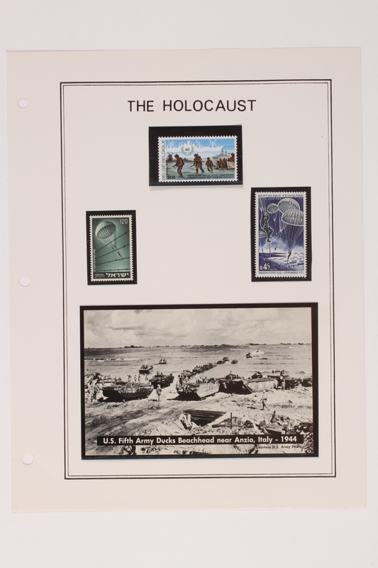 1993.21.1 page 26 front Album that contained a collection of Holocaust related postage stamps