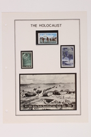 1993.21.1 page 26 front Album that contained a collection of Holocaust related postage stamps  Click to enlarge