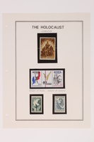 1993.21.1 page 27 front Album that contained a collection of Holocaust related postage stamps  Click to enlarge