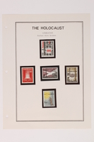 1993.21.1 page 28 front Album that contained a collection of Holocaust related postage stamps  Click to enlarge