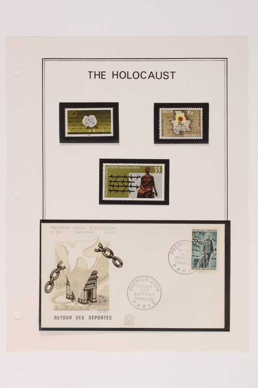 1993.21.1 page 30 front Album that contained a collection of Holocaust related postage stamps