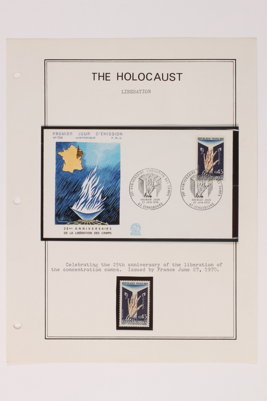1993.21.1 page 31 front Album that contained a collection of Holocaust related postage stamps