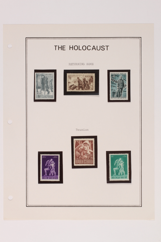1993.21.1 page 32 front Album that contained a collection of Holocaust related postage stamps