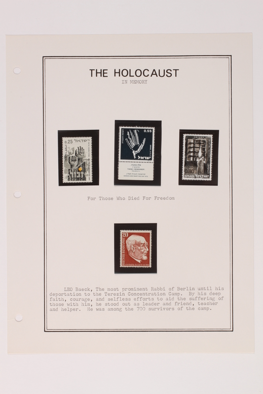 1993.21.1 page 33 front Album that contained a collection of Holocaust related postage stamps