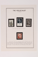 1993.21.1 page 33 front Album that contained a collection of Holocaust related postage stamps  Click to enlarge
