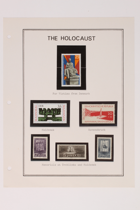 1993.21.1 page 36 front Album that contained a collection of Holocaust related postage stamps