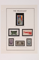 1993.21.1 page 36 front Album that contained a collection of Holocaust related postage stamps  Click to enlarge
