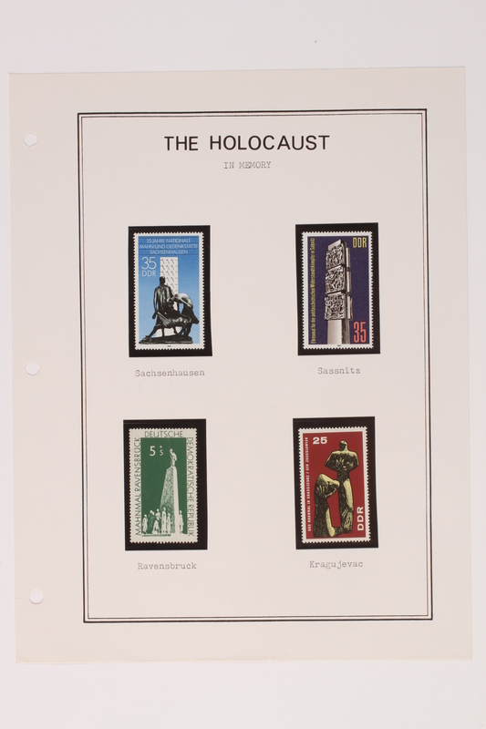 1993.21.1 page 37 front Album that contained a collection of Holocaust related postage stamps