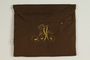 Monogrammed bag for storing a prayer shawl saved by a German Jewish refugee