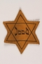 Star of David badge with Jood printed in the center