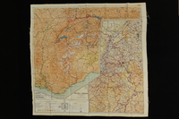 2013.318.2 back Two-sided silk escape map of Western Europe carried by a US soldier  Click to enlarge