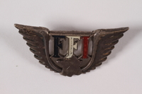 2004.248.3 front FFI Free French pin engraved 193476 awarded to a Jewish resistance member  Click to enlarge