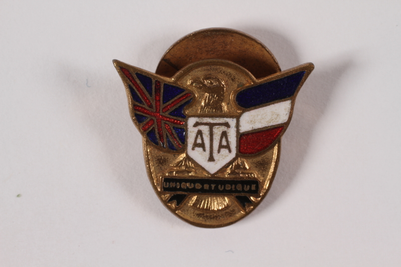 2004.248.4 front ATA (Air Transport Auxiliary) lapel badge owned by a Jewish member of the French resistance