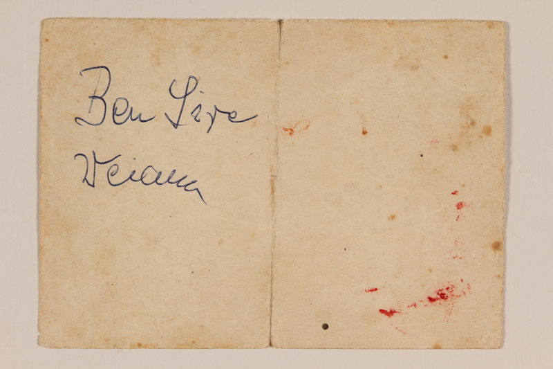 2009.204.38 front Brief note belonging to a hidden child