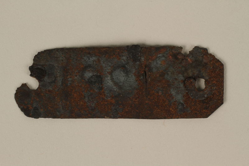 1988.78.3 back ID bracelet of an inmate cremated at Ebensee slave labor camp