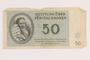 Theresienstadt ghetto-labor camp scrip, 50 [funfzig] kronen note