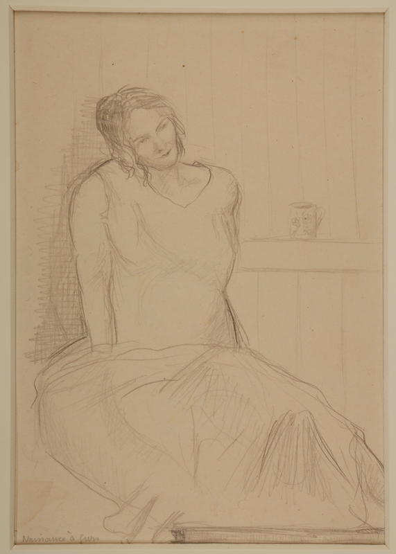 1988.1.16 front Portrait of a pregnant inmate by a German Jewish internee