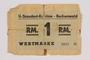 Buchenwald Standort-Kantine concentration camp scrip, 1 Reichsmark, issued to a Polish Jewish inmate