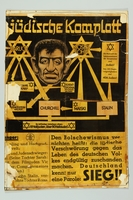 1993.35.1_b front Nazi propaganda poster exposing the Jewish conspiracy links to the Allied Nations  Click to enlarge