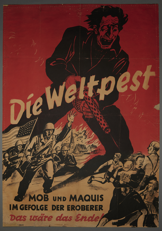 1993.35.2 front Nazi antisemitic propaganda poster found by a US soldier
