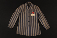 1993.37.1 front Concentration camp inmate uniform jacket  Click to enlarge