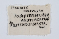 1993.4.12 front Armband with a handwritten inscripton by the original Dutch owner  Click to enlarge