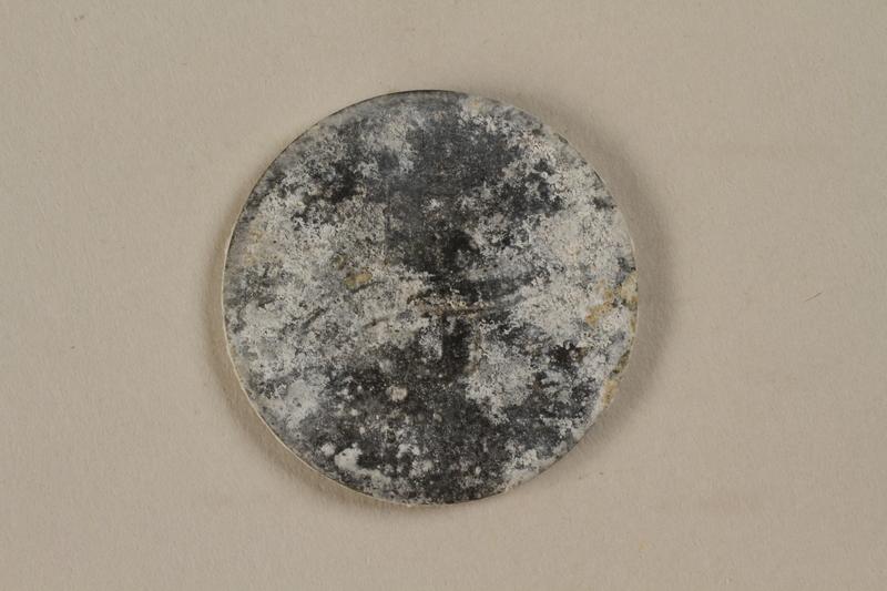 1993.50.2 back Łódź (Litzmannstadt) ghetto scrip, 5 mark coin
