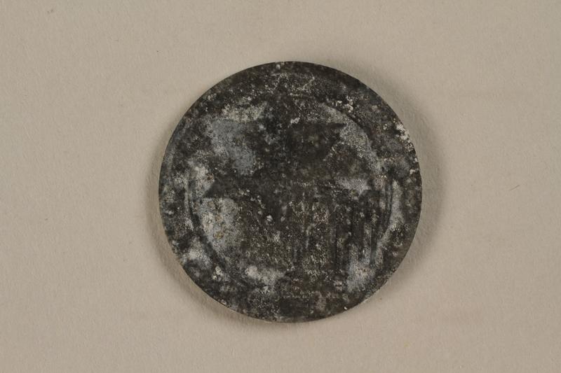 1993.50.4 front Łódź (Litzmannstadt) ghetto scrip, 5 mark coin