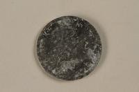 1993.50.4 back Łódź (Litzmannstadt) ghetto scrip, 5 mark coin  Click to enlarge