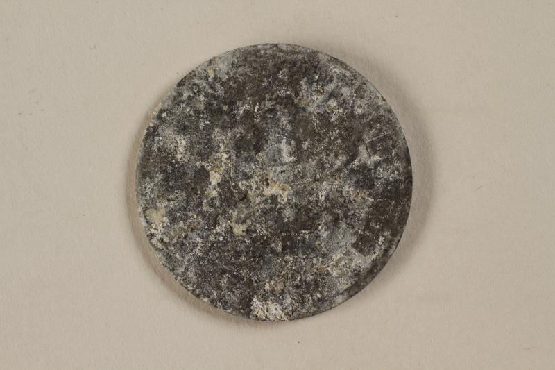1993.50.5 back Łódź (Litzmannstadt) ghetto scrip, 10 mark coin