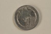1993.53.2 front Łódź (Litzmannstadt) ghetto scrip, 5 mark coin  Click to enlarge